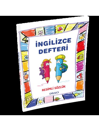 Dilko İngilizce Sözlüklü Defter - İlkokul (1-2-3-4. Sınıf) (Renkli Resimli)