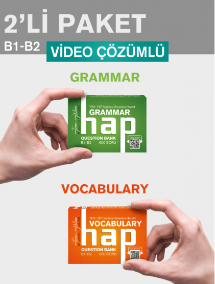 HAP 2'li Paket - Grammar B1-B2 / Vocabulary B1-B2